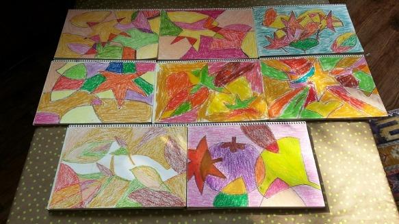미술로 담는 당신의 생애-가을색 평면구성