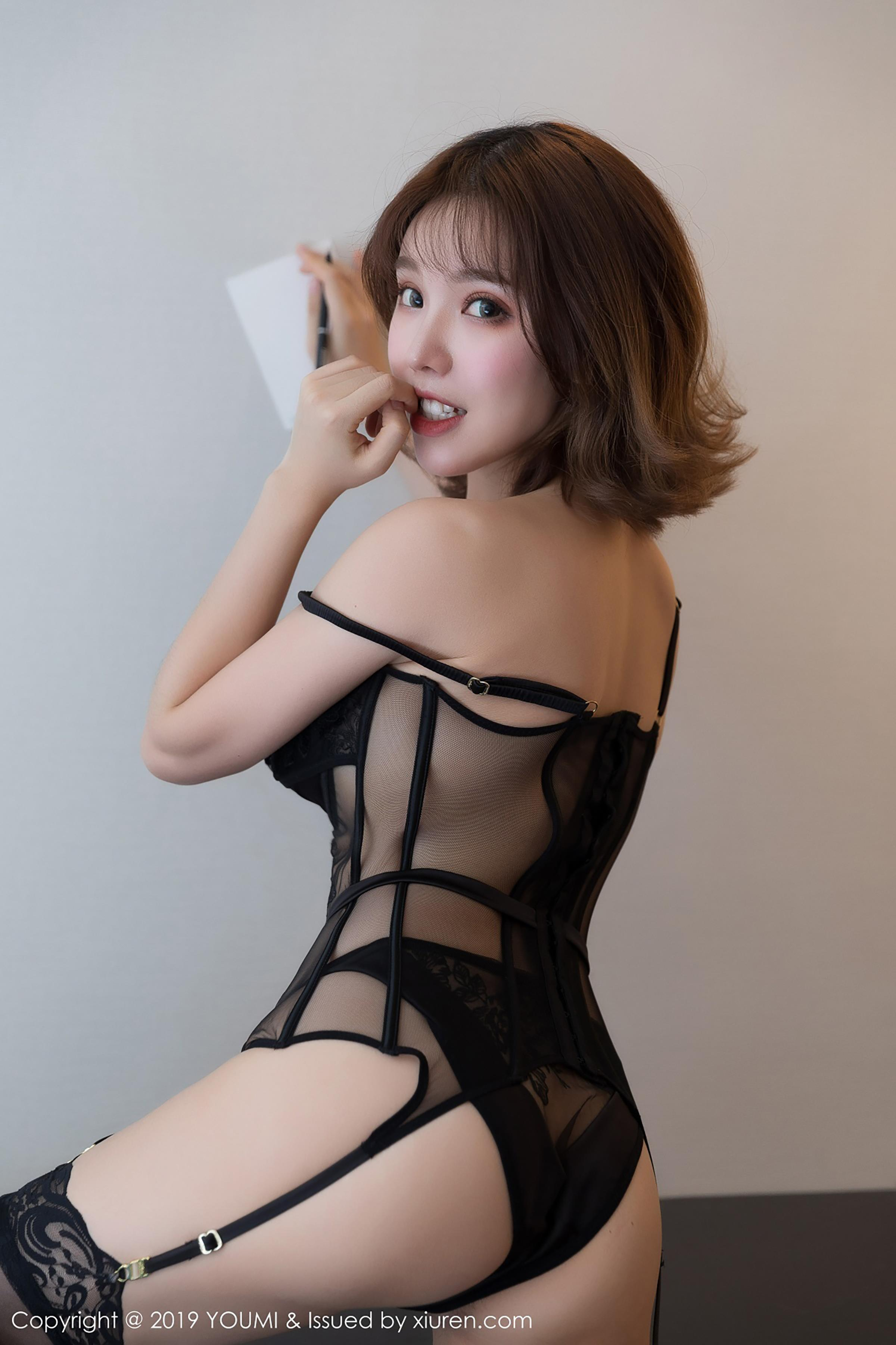 beautiful Chinese glamour in sexy lingerie