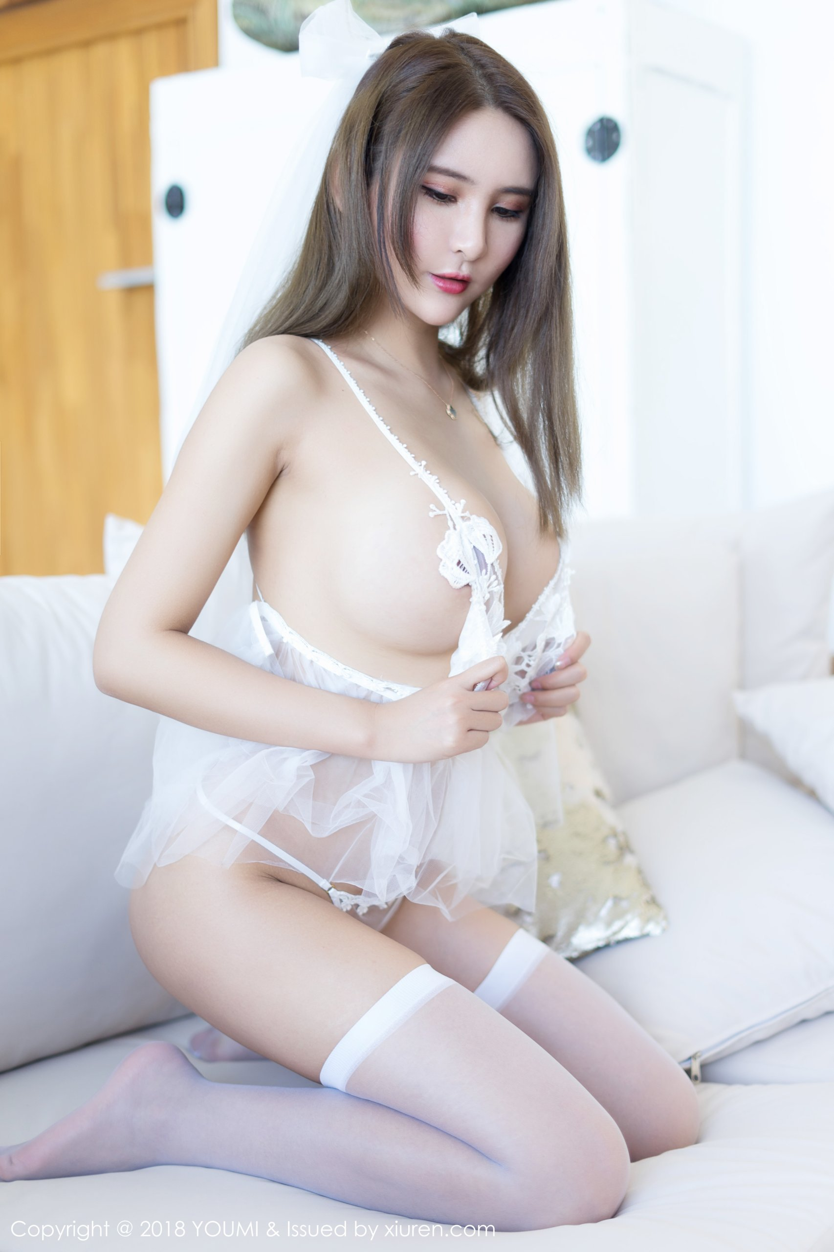 hot transparent lingerie Chinese girl
