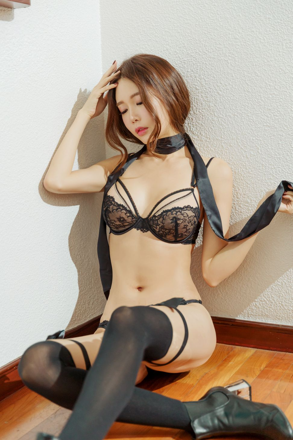 hot lingerie Korean girl Yoon Ae Ji