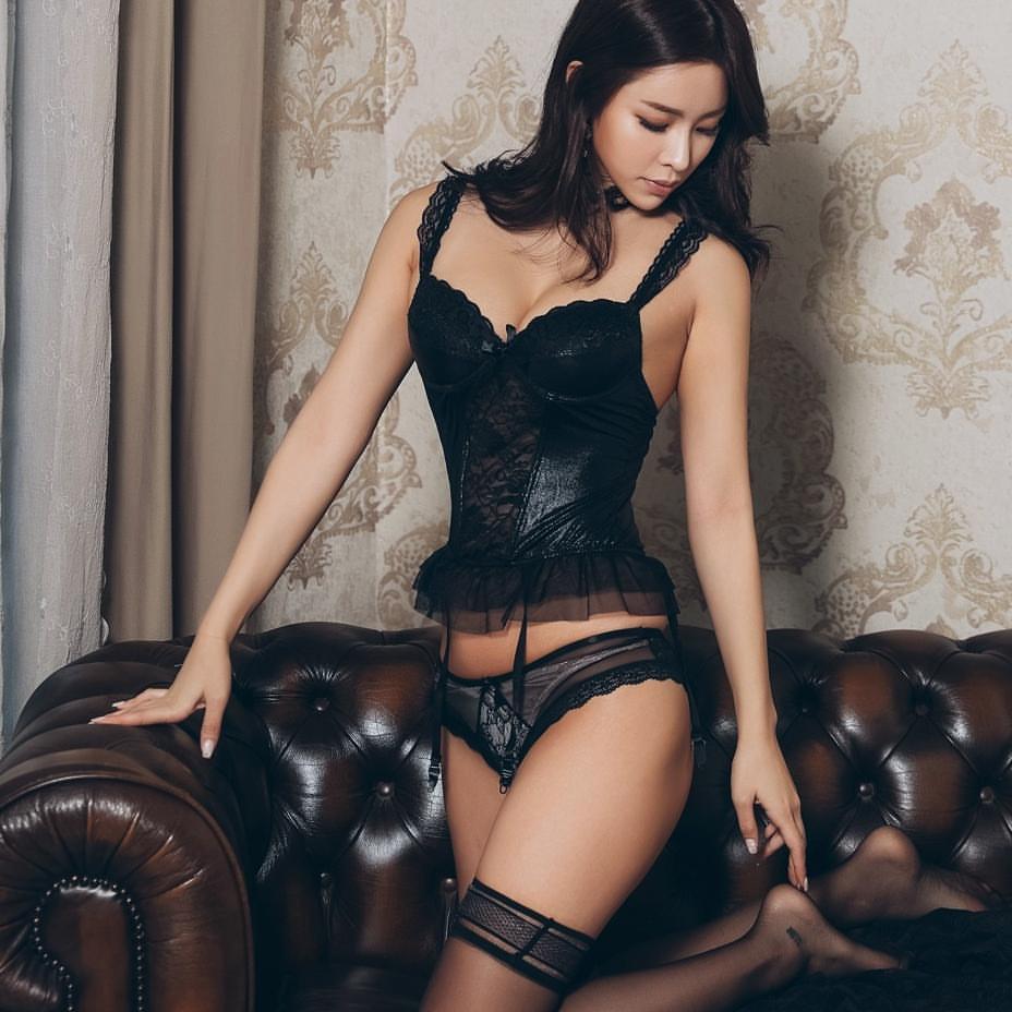 hot Asian girl in lingerie